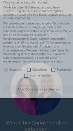 Vorschau der mobilen Webseite alsa-digital.de, ALSA digital GmbH