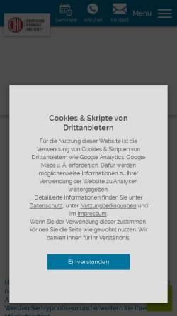Vorschau der mobilen Webseite deutsches-hypnoseinstitut.de, Deutsches Institut für Hypnose GmbH