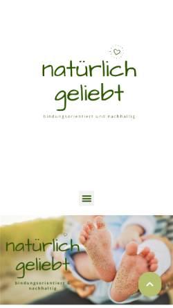 Vorschau der mobilen Webseite natuerlich-geliebt.de, Stoffwindel & artgerecht Coach