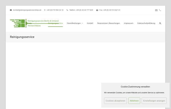 Vorschau von www.reinigungsservice-niklas.de, Reinigungsservice Niklas