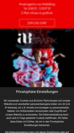 Vorschau der mobilen Webseite a-b-grafik.de, aB Grafik