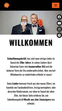 Vorschau der mobilen Webseite www.salonloewengebruell.de, Salonlöwengebrüll