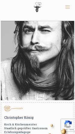 Vorschau der mobilen Webseite www.food-fighter.de, Food-Fighter Mietkoch-Service