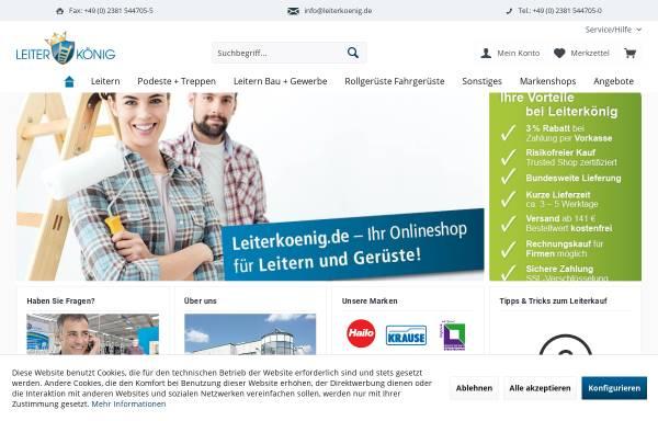 Vorschau von www.leiterkoenig.de, Leiterkönig - Ademia GmbH