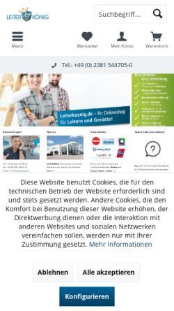 Vorschau der mobilen Webseite www.leiterkoenig.de, Leiterkönig - Ademia GmbH
