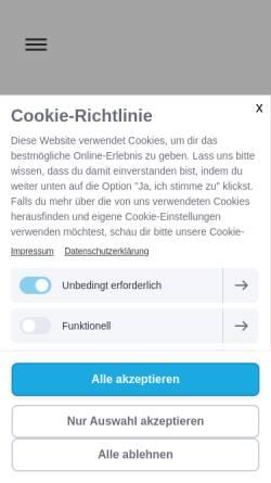 Vorschau der mobilen Webseite www.diescheune-hersbruck.de, Die Scheune Hersbruck