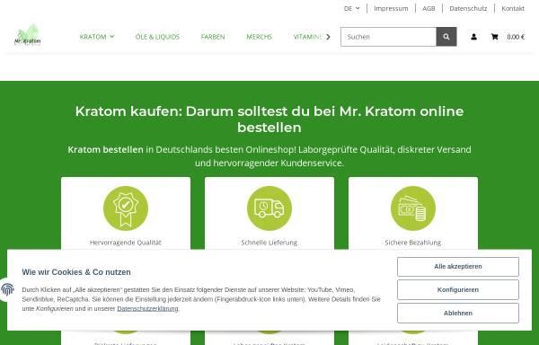 Vorschau von www.mrkratom.de, Mr. Kratom