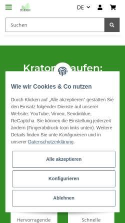Vorschau der mobilen Webseite www.mrkratom.de, Mr. Kratom