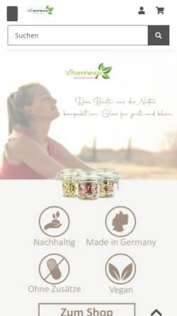 Vorschau der mobilen Webseite www.vitamnesia.de, Vitamnesia