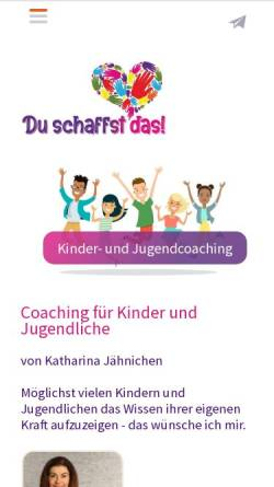 Vorschau der mobilen Webseite duschaffstdas24.de, Psychologin Katharina Jähnichen