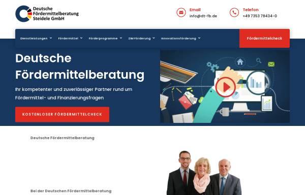 Vorschau von www.deutsche-foerdermittelberatung.de, Deutsche Fördermittelberatung Steidele GmbH