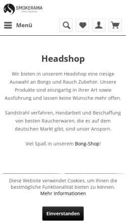 Vorschau der mobilen Webseite www.online-headshop.de, Smokerama
