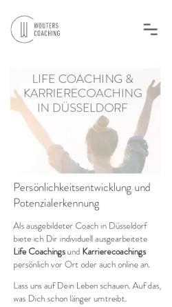 Vorschau der mobilen Webseite www.wouters-coaching.com, Wouters Coaching Düsseldorf