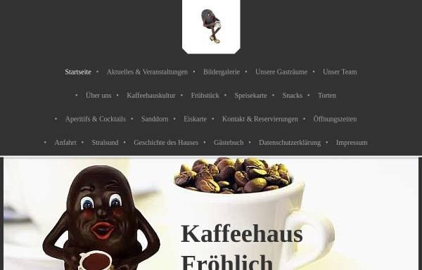 Vorschau von www.cafe-stralsund.de, Kaffeehaus Fröhlich