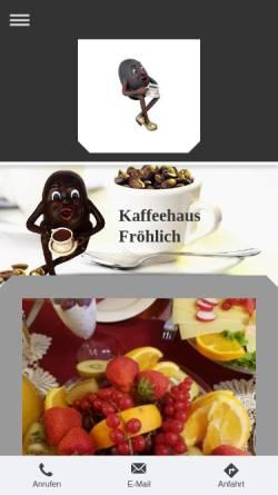 Vorschau der mobilen Webseite www.cafe-stralsund.de, Kaffeehaus Fröhlich