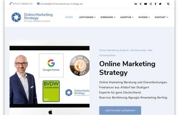 Vorschau von onlinemarketing-strategy.de, Online Marketing Strategy