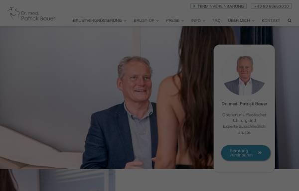 Vorschau von www.drpatrickbauer.de, Dr. med. Patrick Bauer