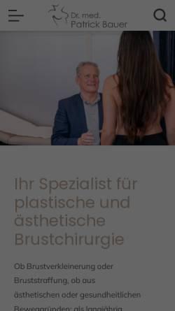 Vorschau der mobilen Webseite www.drpatrickbauer.de, Dr. med. Patrick Bauer