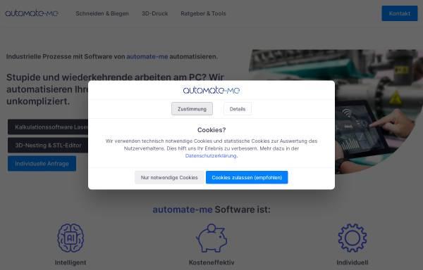 Vorschau von www.automate-me.de, smartfuse3D UG (haftungsbeschränkt)