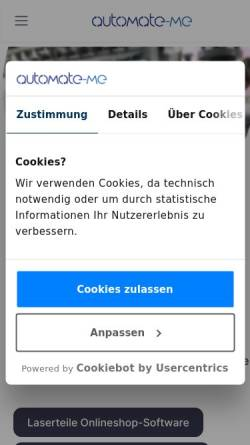 Vorschau der mobilen Webseite www.automate-me.de, smartfuse3D UG (haftungsbeschränkt)