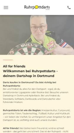 Vorschau der mobilen Webseite www.ruhrpottdarts.de, Ruhrottdarts