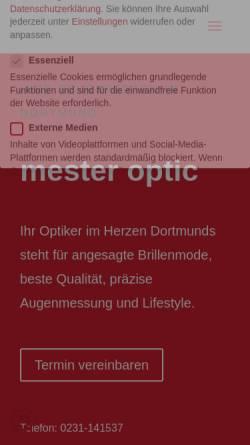 Vorschau der mobilen Webseite www.mesteroptic.de, Mester Optic