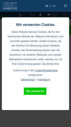 Vorschau der mobilen Webseite www.scenty.de, HTK Hamburg GmbH