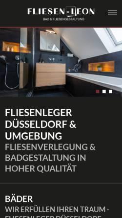 Vorschau der mobilen Webseite www.fliesen-leon.de, Fliesen Leon