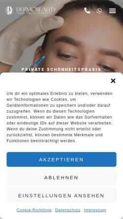 Vorschau der mobilen Webseite www.dermomit-schoenheitspraxis.de, Schönheitspraxis für Botox Faltenbehandlung Dortmund