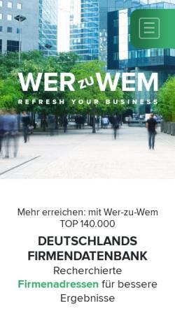 Vorschau der mobilen Webseite www.wer-zu-wem.de, wer-zu-wem GmbH