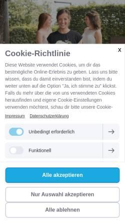 Vorschau der mobilen Webseite www.diehochzeitskleiderin.de, Die Hochzeitskleiderin