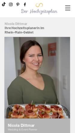 Vorschau der mobilen Webseite www.der-hochzeitsplan.de, Der Hochzeitsplan - von Nicola Juliane Dittmar