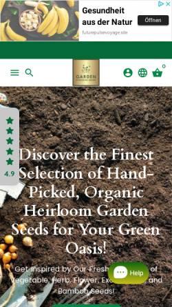 Vorschau der mobilen Webseite www.gardenparadiseseeds.com, Garden Paradise Seeds
