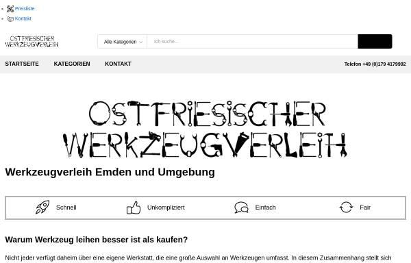 Vorschau von werkzeugverleih-ostfriesland.de, Ostfriesischer Werkzeugverleih