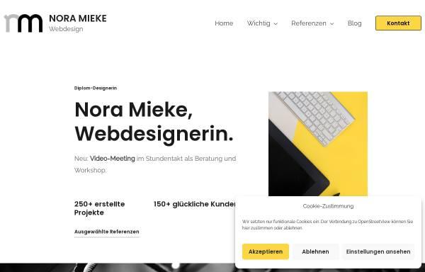 Vorschau von www.nora-mieke.de, Webdesignerin / Diplom-Designerin