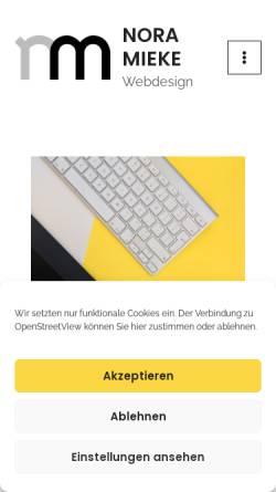 Vorschau der mobilen Webseite www.nora-mieke.de, Webdesignerin / Diplom-Designerin
