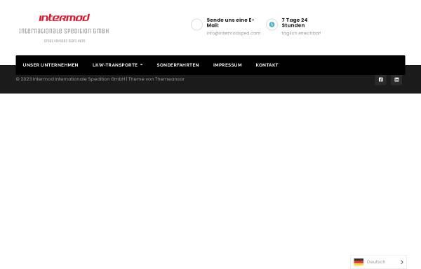 Vorschau von intermodsped.com, Intermod Internationale Spedition GmbH