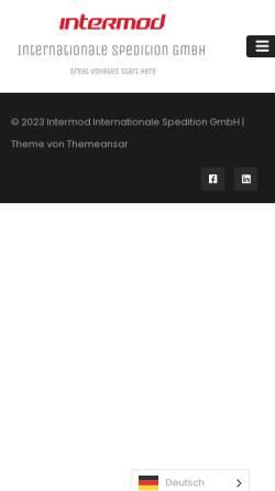 Vorschau der mobilen Webseite intermodsped.com, Intermod Internationale Spedition GmbH
