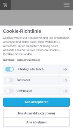 Vorschau der mobilen Webseite www.rewagmbh.de, ReWa Gmbh - Infrarot