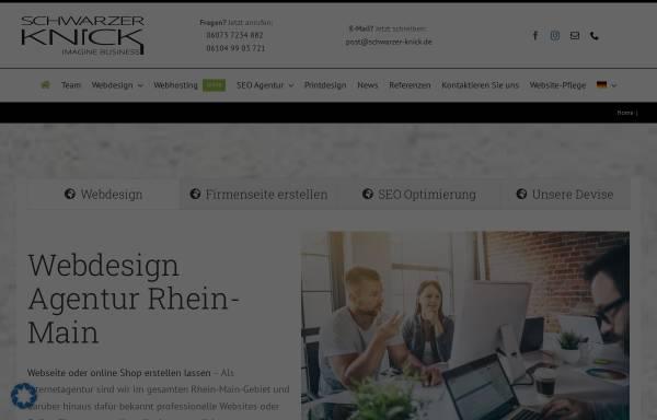 Vorschau von schwarzer-knick.de, Webdesign Agentur Schwarzer-Knick