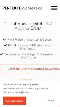 Vorschau der mobilen Webseite perfekte-webseite.de, Perfekte Webseite