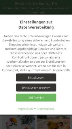 Vorschau der mobilen Webseite www.littlegreenie.de, littlegreenie OHG
