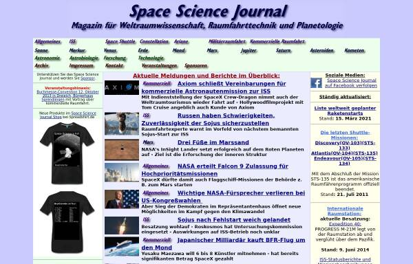 Vorschau von www.spacesciencejournal.de, Space Science Journal