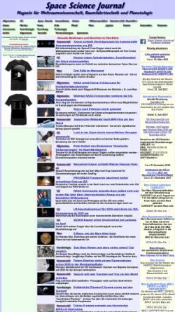 Vorschau der mobilen Webseite www.spacesciencejournal.de, Space Science Journal
