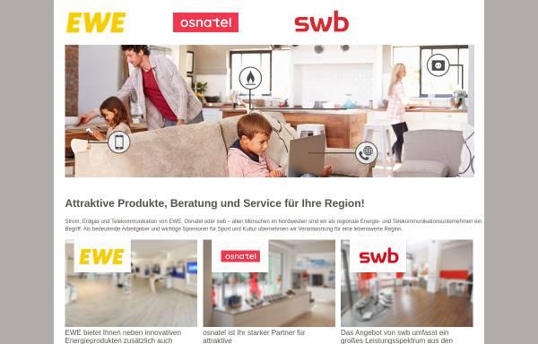 Vorschau von www.udg-ewe.de, EWE Urbanisation Dienstleistungs GmbH
