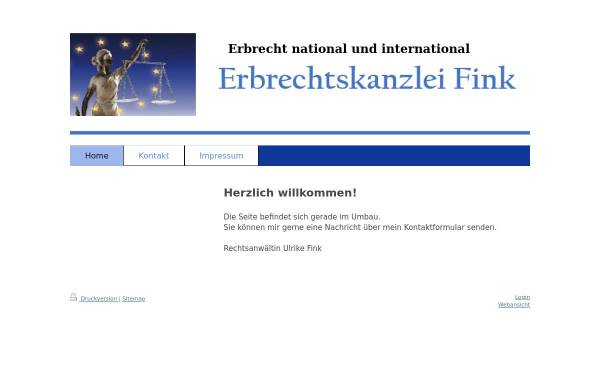 Vorschau von www.erbrecht-fink.de, Fink Ulrike