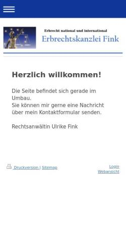 Vorschau der mobilen Webseite www.erbrecht-fink.de, Fink Ulrike