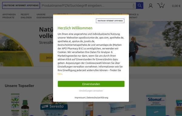 Vorschau von www.deutscheinternetapotheke.de, Deutsche Internet Apotheke - Martinus-Apotheke