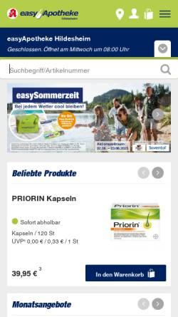 Vorschau der mobilen Webseite www.easyapotheke.de, easyApotheke, Harald Steinert