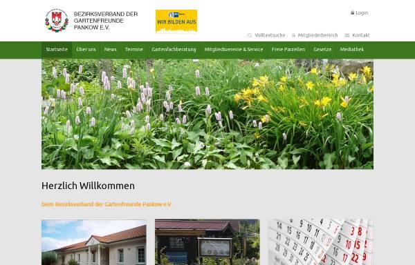 Vorschau von www.kleingarten-pankow.de, Bezirksverband der Kleingärtner Pankow e.V.